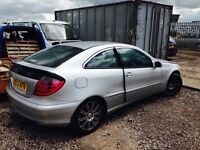 Mercedes Benz coupe c220 diesel auto spare parts breaking