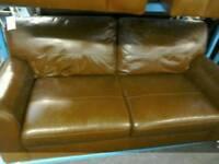 Leather Sofa & 2 armchairs #33809 £150