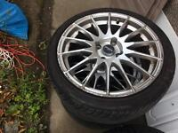 Alloy wheels and low profile 19inch tyres 205/40 R17