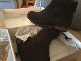 Ladies dark green boots