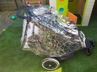 Phil and Ted's double buggy with newborn cacoon