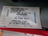 1 Stone roses ticket for sale Hampden 24th of June sitting ticket