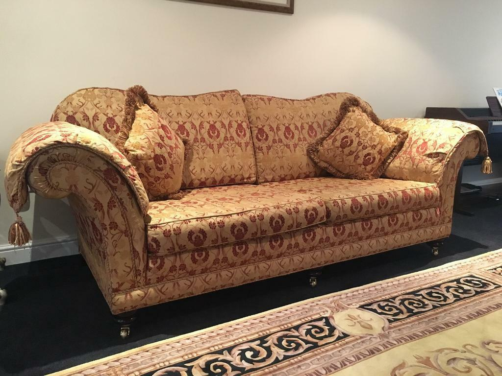 Astonishing Steed Upholstery 3 Seater Sofa Red Gold Padded Arm Caps Quality Sofa In Askern South Yorkshire Gumtree Download Free Architecture Designs Scobabritishbridgeorg