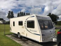 Bailey Pageant series 7 Burgundy 4 berth, fixed double bed caravan