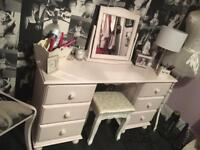 Dressing Table/Desk solid pine Shabby chic