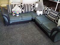 Exdisplay dfs grey corner sofa