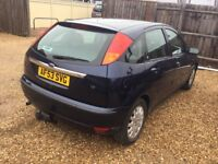 2003 Ford Focus Gaia 1.6cc—6 months mot,se/ history,ac,cd,alloys,excellent runner,cambelt changed