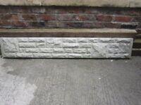 6 foot concrete base panel BARGAIN