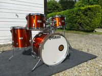 SUPERB VINTAGE 1989 YAMAHA 5000 SERIES DRUM KIT RARE FINISH + FULL SET OF CASES