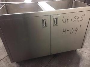 Stainless Steel Counter with 2 doors