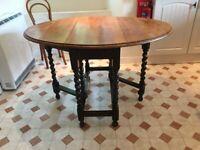 Vintage Oak Barley Twist legs Table