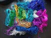 Big bundle of assorted metallic threads and trims, many colours - crafts, cardmaking, clearout