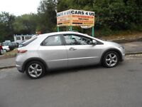 Honda civic 1.8i vetec se 5 door hatchback lovely car with alloy comes with 12 months M-O-t .......
