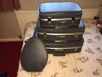 Grey hard shell Vintage Suitcase Set