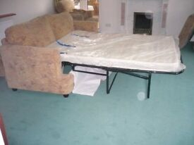 2/3 seater sofa bed & two chairs in excellent condition