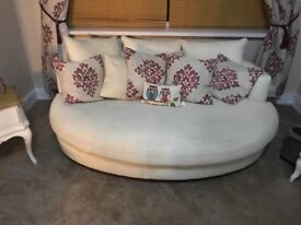 Pair of oval sofas; Great condition