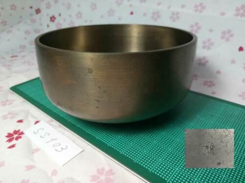 "Marked SAHARI 4.252"" Japanese Buddhist Bell SS103 Orthodox Long Tone"