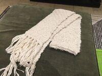 Soft cream long 'accessorise' scarf