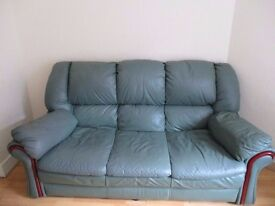 FREE Leather sofa and recliner chair