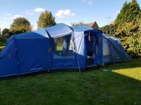 Vango Astoria 800 8 man tent + footprint,carpet & extras