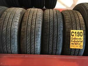 C190) 4- 195/65R15 NEW TAKE OFF CONTINENTAL ALL SEASON RADIALS $ 250 set of 4