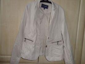 Size 12 Beige Summer Jacket
