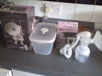 Tommy Tippee Closer to Nature Manual Breast pump and steriliser with containers