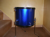 Brand new unused junior 12x10 floor tom in blue sparkle