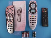 3x TV replacement remote controls, and 7 AAA batteries.