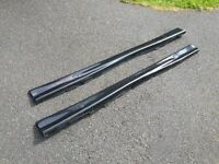 BMW 3 SERIES (E36) COUPE CONVERTIBLE SALOON TOURING M3 SIDE SKIRTS - METALLIC BLACK