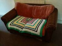 Wicker sofa, two seater, from John Lewis