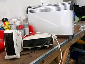 1 convector heater & 2 under table heaters