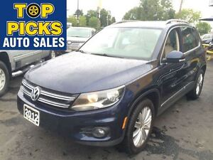 2012 Volkswagen Tiguan HIGHLINE AWD, LEATHER, SUNROOF, ALLOYS!