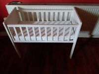 Small cot and baby bath FREE