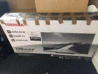 43 inch toshiba 4K TV new but box broken