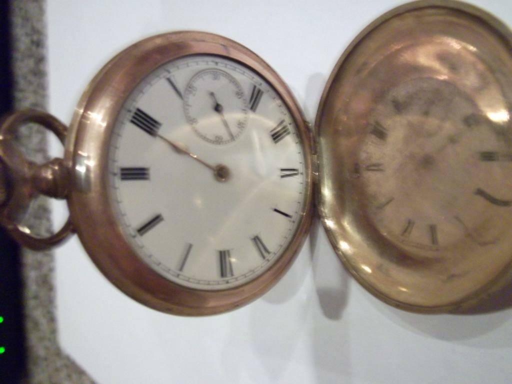 POCKET WATCH GOLD WALTHAM C1908