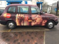 London Taxi - tx2 for sale / 52 plate - full years London plate