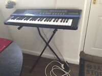 CASIO CT840 Electric Keyboard, stand & power supply