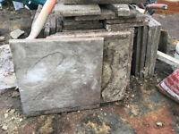 Paving slabs. Used grey concrete slabs - FREE