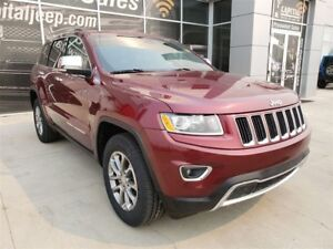 2016 Jeep Grand Cherokee Limited| Leather| Sunroof| UConnect| Re