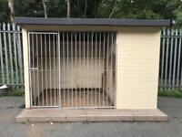 DOG KENNEL AND RUN 10FT X 6FT X 7FT HIGH