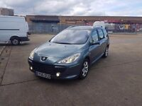 FOR SALE PEUGEOT 307 2006 DIESEL NEW TURBO MANUAL ONLY £975