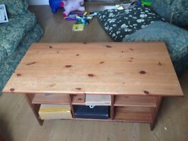 Wooden storage coffee table