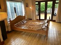 Super King Ergonomic Adjustable Wooden Bed Made In Holland By Hulsta® Cost Over £2000
