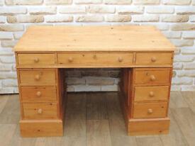 Pine vintage desk 3 parts with Keys (Delivery)