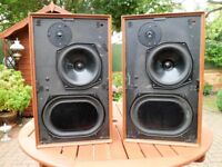 Pair KEF Cadenza Vintage Speakers circa 1970, Superb condition for age.
