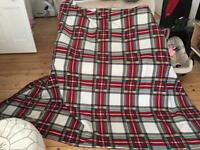 Large fleece rug excellent condition