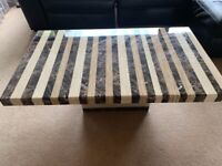 Marble Coffee Table with matching side table