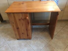 Pine Desk with side cupboard - perfect upcycle project