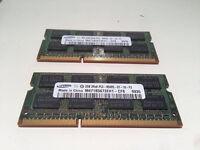4gb Samsung (2x2GB) SO-DIMM 1066 MHz DDR3 SDRAM
